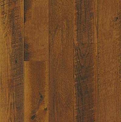 Bruce Hardwoods L3104 Armstrong Architectural Remnants Saw Mark Oak/Sawmill Oak Laminate Flooring, Gunstock/Butterscotch