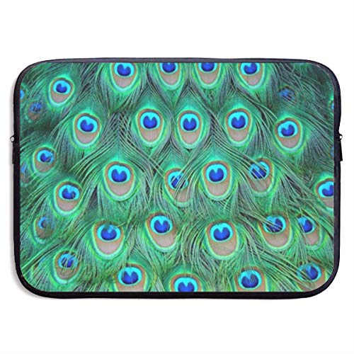 JHGNUHPL Adorable Green Peacock Portable Laptop Bag Handbag Carrying Case Neoprene 13
