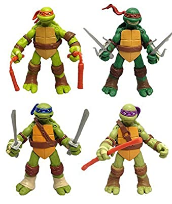 Teenage Mutant Ninja Turtles Anime Moving Action Figures Toy, 4.7-Inch, 12cm, Set of 4pc (Without original box)