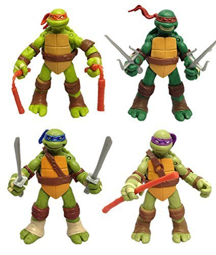Teenage Mutant Ninja Turtles (NEWEST! 4PCS Lot TMNT Teenage Mutant Ninja Turtles Action Figures Anime Movie Xmas Gift, Without Original Packing)