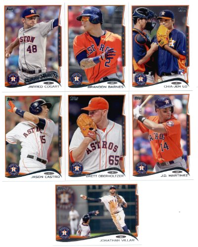 2011, 2012,2013 & 2014 Topps Houston Astros Baseball Card Team Sets (Complete Series 1 & 2 From All Four Years )