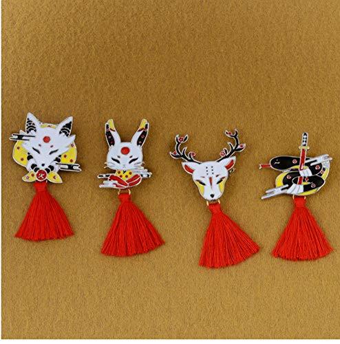 YUYINGXIANG Deer Rabbit Snake Fox Ninja Máscara con Borla ...