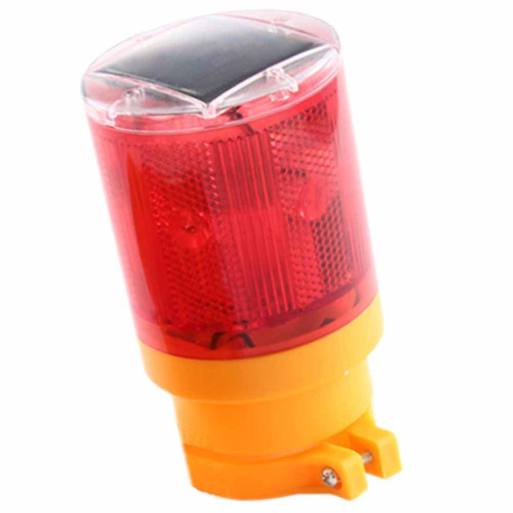 Warning Lights Solar Traffic Strobe Light Led Beacon Ultra Bright LED Red Flashing 1Piece
