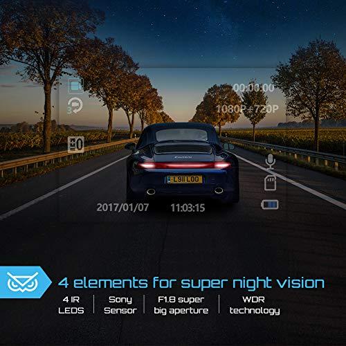 Uber Lens Car Dashboard Camera 1080P Inside with Infrared Night Sensor, Motion Detection, G-Sensor