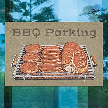 30x20 Inner CirclePatriotic BBQ Parking Perforated Window Decal CGSignLab