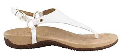 c92f93868f5 Vionic Women s Rest Kirra Backstrap Sandal - Ladies Sandals with Concealed  Orthotic Arch Support White 6W