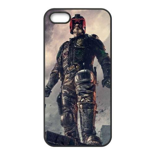 Dredd 7 coque iPhone 5 5S cellulaire cas coque de téléphone cas téléphone cellulaire noir couvercle EOKXLLNCD23358