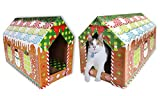 Cheap ASPCA Gingerbread Cat House & Scratching Pad, Bonus Catnip Included