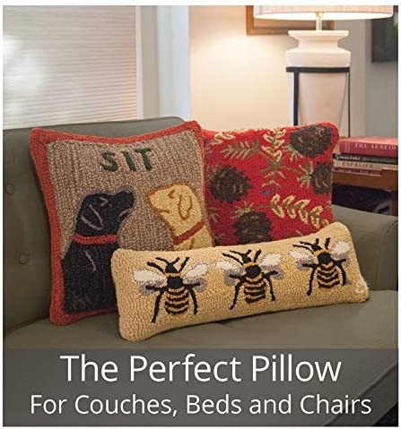 Chandler 4 Corners Artist-Designed Fly Fisherman Hand-Hooked Wool Decorative Throw Pillow 18 x 18