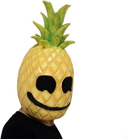 Liqiqi - Máscara de piña de látex para Disfraz de Cabeza de Fruta ...