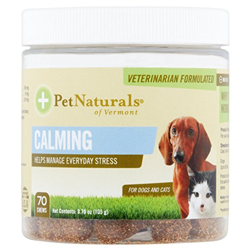 - Pet Naturals Calming for Cats & Dogs of Vermont 70 Chewable