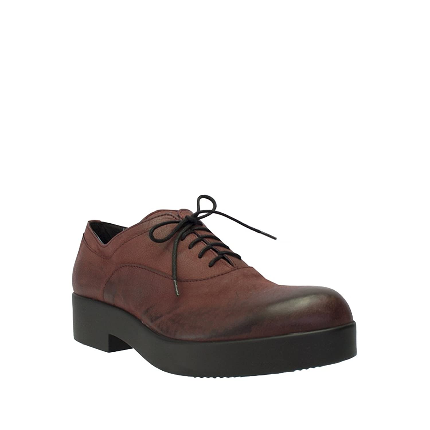 8100 Melrose Wine Distressed Leather Lace Up Oxford