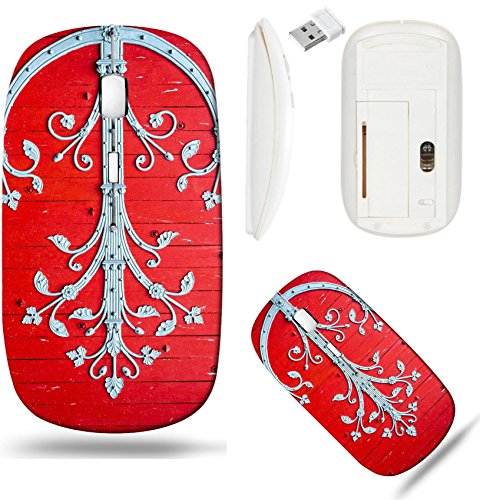 (Liili Wireless Mouse White Base Travel 2.4G Wireless Mice with USB Receiver, Click with 1000 DPI for notebook, pc, laptop, computer, mac book Sens Yonne Burgundy France Exterior of the)