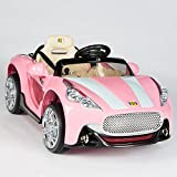 pink motor car - Maserati Style 12V Kids Ride On Car Electric Powered Wheels Remote Control Pink