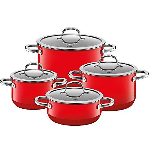 - Silit 15175811 set de casseroles 4 pièces rouge passion