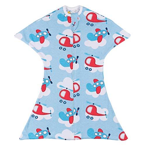 SleepingBaby Zipadee-Zip Swaddle Transition Baby Swaddle Blanket with Zipper, Cozy Baby Swaddle Wrap and Baby Sleep Sack (Medium 6-12 Months | 18-26 lbs, 29-33 inches| Fly Sky High)