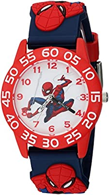 Marvel Boy's 'Spider-Man' Quartz Plastic Casual Watch, Color:Blue (Model: WMA000169) from The_Marketplace_for_Everything