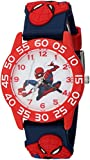 MARVEL Boy's Spider-Man' Quartz Plastic Casual Watch, Color:Blue (Model: WMA000169)