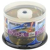 Philips Lightscribe Blank Media Disc DVD-R 16X Speed / 4.7GB / 120min - 50PK