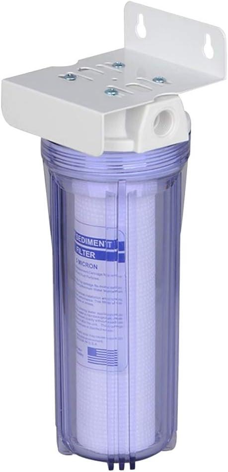 FLAMEER Filtro De Agua De La Sola Etapa De La Casa Entera De 10 Pulgadas con El Purificador Multi del Filtro del Sedimento De La Pendiente del Algodón De Los - B: