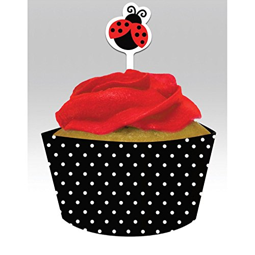Club Pack of 144 Ladyby Fancy Cupcake Wrapper Baking Cups with Picks by Party Central