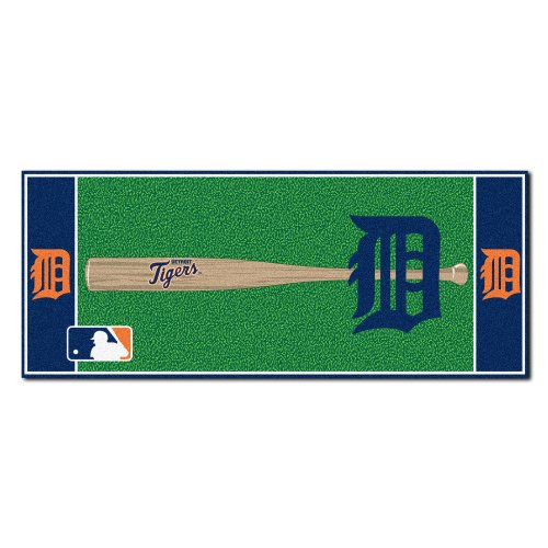 - FANMATS MLB Detroit Tigers Nylon Face Football Field Runner