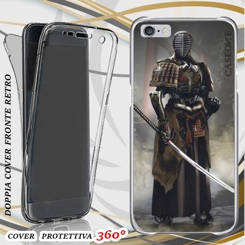 CUSTODIA COVER CASE SAMURAI TENEBROSO PER IPHONE 6 FRONT BACK