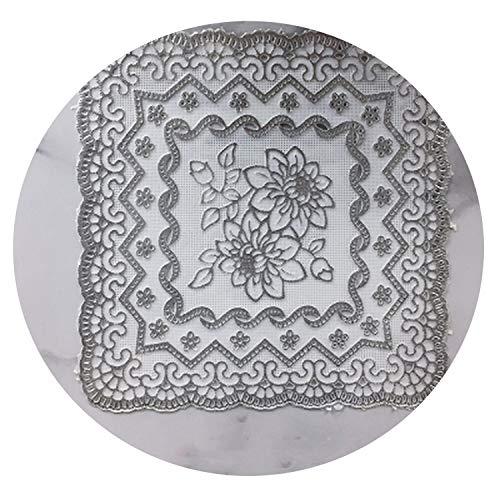 (50pcs Western Food Coastee Gilding PVC Tea Cup Mat Waterproof Cup Mat Pan Vase Basin Placemat Wedding Supplies,04)