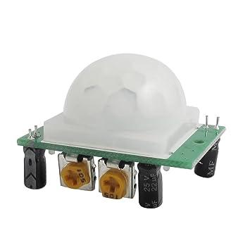 Sourcingmap - ® HC SR501 IR pyroelektrisch infrarrojos PIR Sensor de movimiento detector Módulo M17: Amazon.es: Bricolaje y herramientas