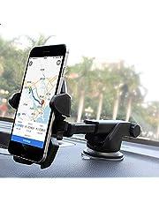 حامل الهاتف للسيارة من ملحقات اجهزة تحديد المواقع الجغرافية مزود بكوب شفط بارا تلقائي يثبت على التابلو مع حامل قابل للسحب
