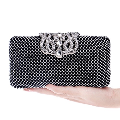 With Bridal Party Wedding Bag Black Dance Bag Sequins Evening Bag Weekend Party 6UFtqS