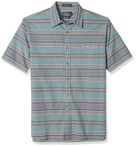 Pendleton Men's Short Sleeve Kay Street Shirt, Silver Pine Stripe, XXL