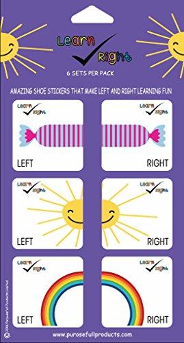 Erfahren Sie rechts Educational Schuh Aufkleber Teach Kinder links und rechts Füße