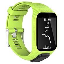 XBERSTAR TPE Wrist Accessories Bands Strap for TomTom Adventurer Golfer 2 Runner 2/3 Spark / Spark 3 GPS Watch