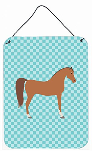 Caroline's Treasures Arabian Horse Blue Check Metal Print, 16hx12w, Multicolor by Caroline's Treasures