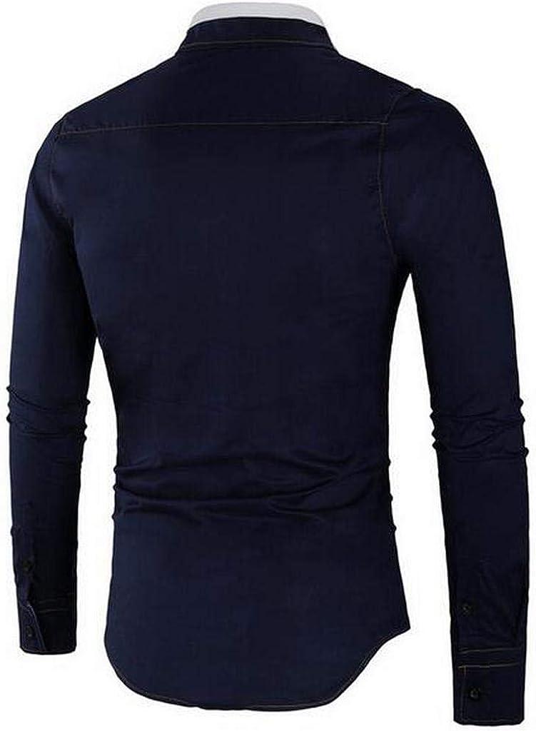 ARTFFEL Mens Long Sleeve Cotton Slim Formal Dress Shirts
