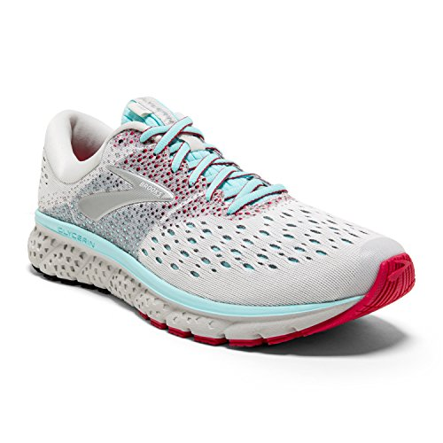 Brooks Womens Glycerin 16 - White/Blue/Pink - B - 7.5
