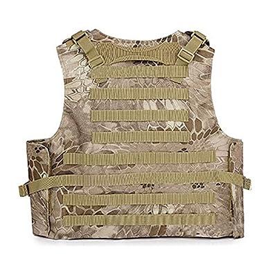 Invenko Tactical Molle Airsoft Vest Paintball Combat Soft Vest Python Desert