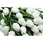 En-Ge-10-heads-Home-Deocr-Mini-Tulip-Real-Touch-Tulip-Artificial-Flowers-Bouquets-white