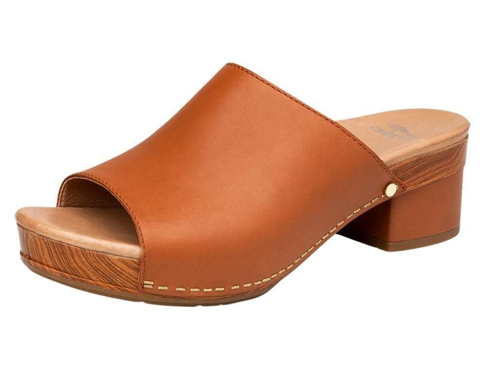 Dansko Women's Maci Sandal Camel Full Grain Size 42 EU (11.5-12 M US Women)