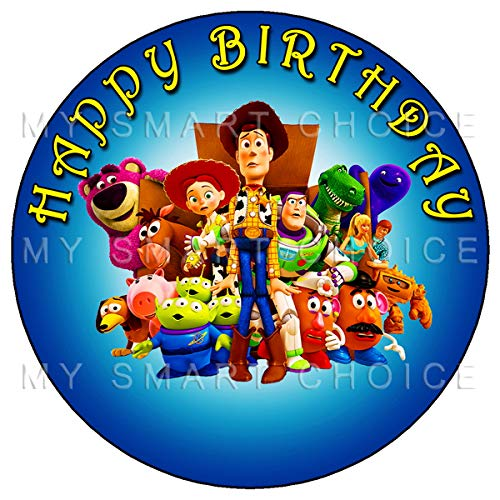 7.5 Inch Edible Cake Toppers - Toy Story Themed Birthday Party Collection of Edible Cake Decorations (Toy Story Edible Images)