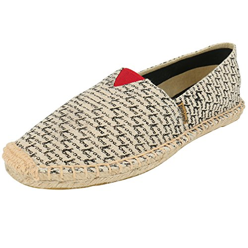 Alexis Leroy Men's Casual Round Toe Canvas Espadrille Black