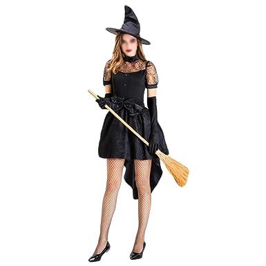 Disfraces de Halloween-Shenyi Señoras Halloween Adulto Bruja Negra ...