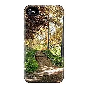 New Saraumes Super Strong Bench On A Path In The Woods PC Case Cover For Iphone 4/4s