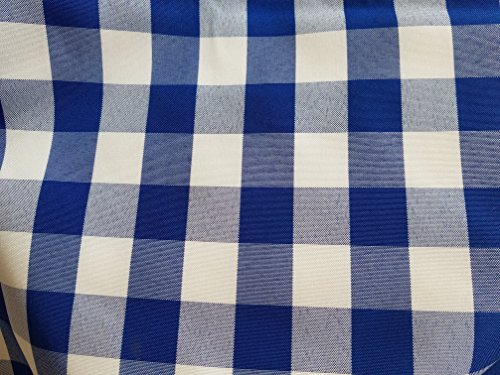 Gingham Co. Checked Cloth Napkin Blue and White Checkered Pattern Large 19 inch by 19 inch Square Mason Jar Upscale Rustic Cottage Country Chic Picnic Design One Dozen Easy Care Fabric Linens Per Orde