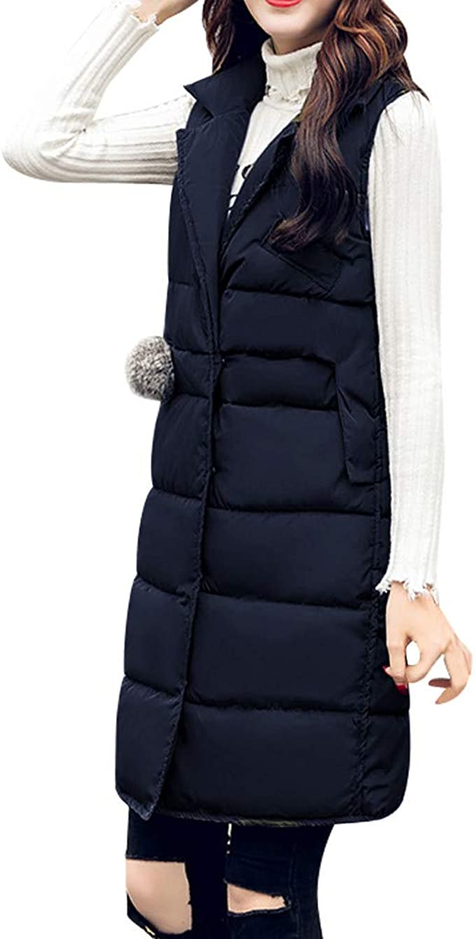 DianShaoA Women/¡/¯S Quilted Hoodie Padded Gilet Casual Warm Vest Down Sleeveless Jacket Outwear Bodywarmer Coat