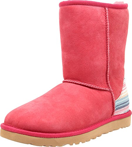 ugg-womens-classic-short-serape-sunset-red-twinface-boot-7-b-m