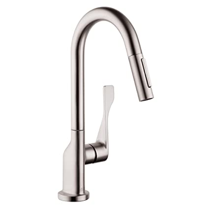 Hansgrohe 39836801 Citterio Prep Kitchen Faucet, Steel Optik, Touch ...
