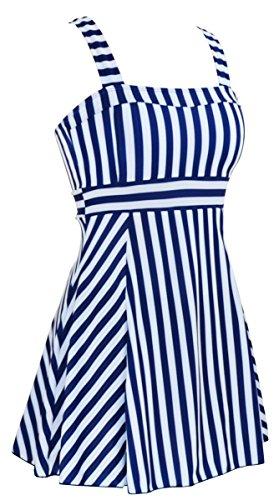 Women's One Piece Plus Size Swimdress Cover Up Swimsuit Tankini Bathing Suit