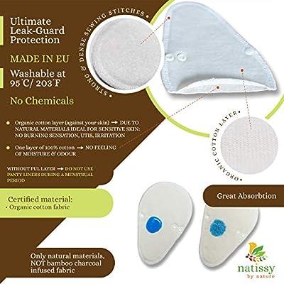 Salvaslips de tela reutilizables TANGA, 7-Pack Protege Slips de ...